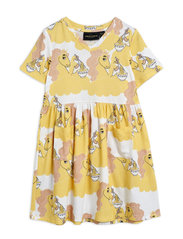 Unicorn noodles aop ss dress - YELLOW