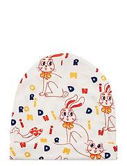MR rabbit aop beanie - OFFWHITE