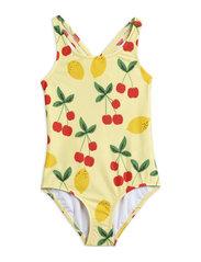 Cherry lemonade swimsuit - YELLOW