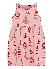 Lighthouse aop tank dress - PINK