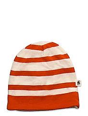Stripe beanie - RED