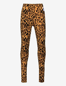 Basic leopard leggings - leggings - beige