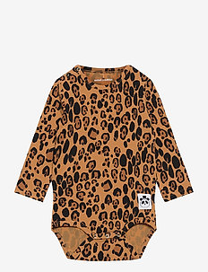Basic leopard ls body - manches longues - beige