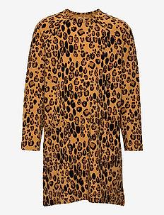Basic leopard ls dress - kleider - beige