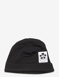 Basic baby beanie - kapelusze - black
