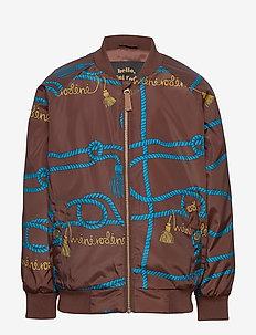 Rope baseball jacket - bombowiec - brown