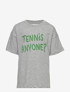 Tennis anyone tee - krótki rękaw - grey melange