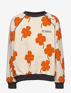 Clover aop sweatshirt - bluzy - offwhite