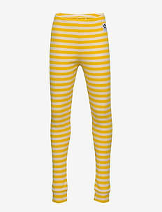 Stripe rib leggings - leggings - yellow