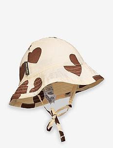 Hearts sun hat - chapeau de soleil - offwhite
