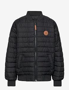 Leopard insulator jacket - bomber jackets - black
