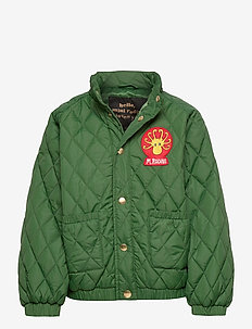 Diamond quilted jacket - bomber jackets - dark green