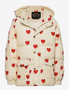 Hearts pico puffer jacket - wyściełana kurtka - offwhite