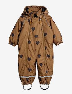 Alaska hearts baby overall - termotøj - brown