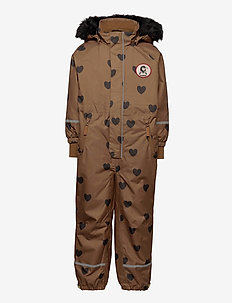 Kebnekaise hearts overall - snowsuit - brown