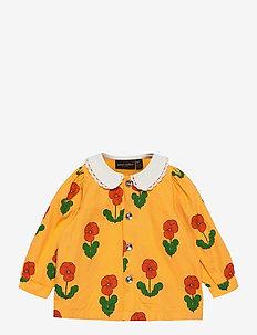 Violas woven blouse - blouses & tunieken - yellow