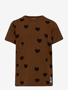 Hearts ss tee TENCEL™ - kortærmede - brown