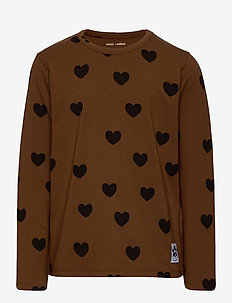 Hearts aop ls tee TENCEL™ - manches longues - brown