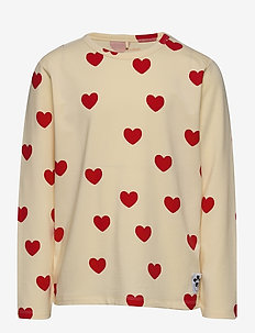 Hearts aop ls tee TENCEL™ - manches longues - offwhite