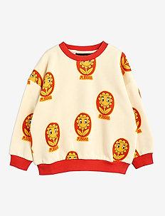 Flower aop sweatshirt - sweatshirts - offwhite