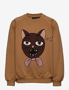 Cat choir sp sweatshirt - sweatshirts - beige
