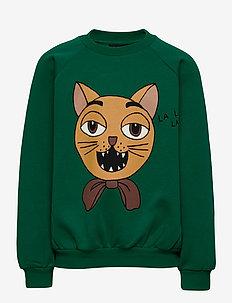 Cat choir sp sweatshirt - sweatshirts - green