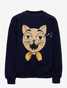 Cat choir sp sweatshirt - sweatshirts - navy