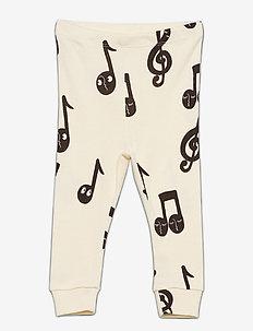 Notes aop leggings - leggings - offwhite