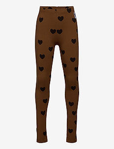 Hearts leggings TENCEL™ - leggings - brown