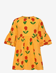 Violas woven flared sleeve dress - robes - yellow