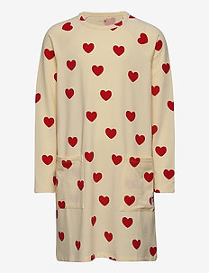 Hearts ls dress TENCEL™ - robes - offwhite