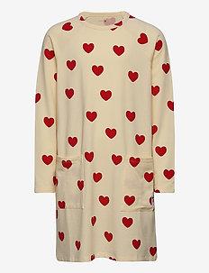 Hearts ls dress TENCEL™ - sukienki - offwhite