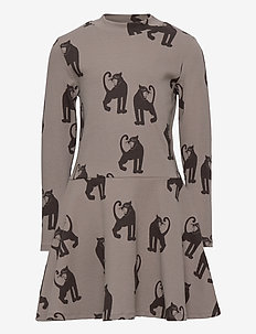 Panther rib ls dress -X- - kleider - grey