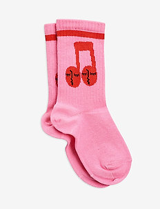Notes socks - skarpetki - pink