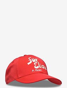 Fur elise cap - czapki - red