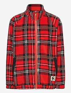 Fleece check jacket - parkas - red