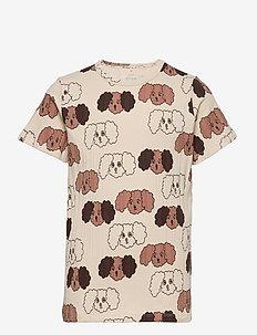 Fluffy dog aop ss tee - short-sleeved - beige