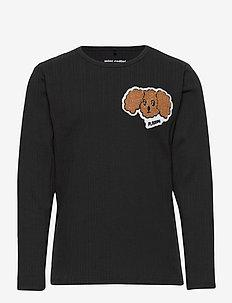 Fluffy dog patch ls tee - dlugi-rekaw - black