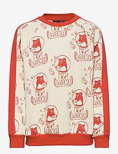 Lajka aop sweatshirt - sweatshirts & hoodies - offwhite