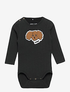 Fluffy dog patch ls body - długie rękawy - black