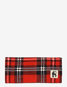 Fleece check tube - kapelusze - red