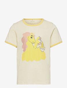 Unicorn noodles sp ss tee - kurzärmelige - yellow