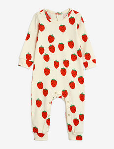 Strawberry aop jumpsuit - langärmelig - offwhite