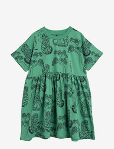Tigers aop ss dress - jurken - green
