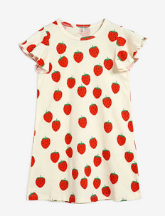Strawberry aop wing dress - kleider - offwhite