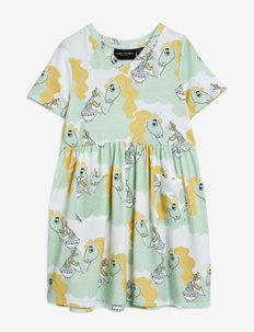 Unicorn noodles aop ss dress - jurken - green