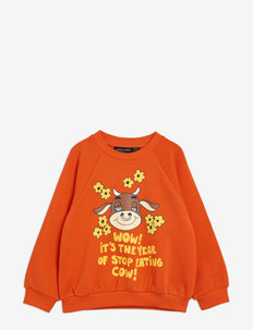 Wow cow sp sweatshirt - sweatshirts - red