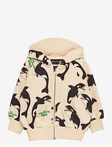 Orca aop zip hoodie - kapuzenpullover - offwhite