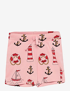 Lighthouse aop shorts - shorts - pink