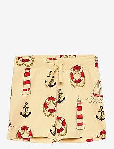 Lighthouse aop shorts - shorts - yellow